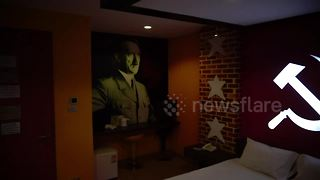 Thai love hotel sparks outrage with Nazi-themed room - Video