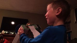 Boy Cries Tears of Joy At Christmas - Video