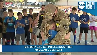 MUST SEE: Military dad surprises daughter at a Pinellas County school