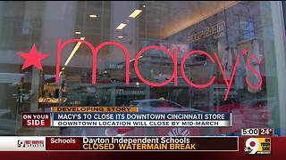 Downtown Macy's to close its doors - Video