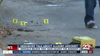 Neighbors talk about alleged serial arsonist - Video