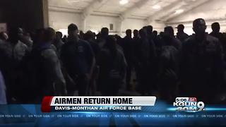Airmen of 355th Fighter Wing return to Davis-Monthan Air Force Base - Video