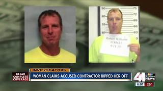 Woman claims accused contractor ripped her off - Video
