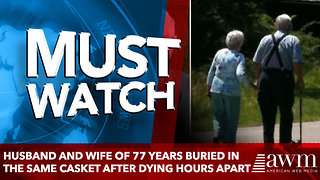 Husband and Wife of 77 Years Buried in the Same Casket after dying hours apart - Video