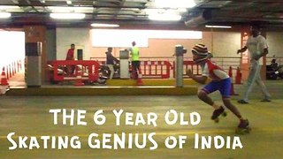 6-Year-Old Boy Roller Skates Under Cars - Video