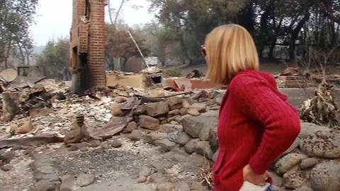 Woman Believes Her Cat Died In Wildfire. Here's the Tearful Reunion When She Returns to the Ruins.