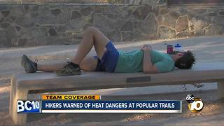 Hikers warned of heat dangers at popular trails