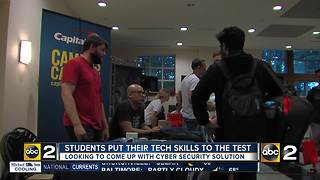 Students competing for tech glory, targeting cyber security issues - Video