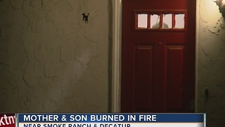 Cooking fire sends young boy, mother to hospital - Video