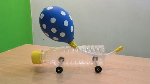 How to make a Balloon powered car very simple