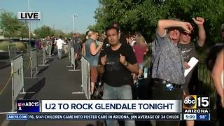 U2 concert comes to the Valley tonight! - Video
