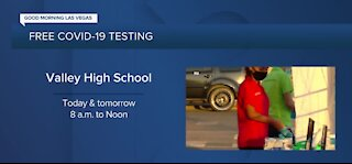 Free COVID-19 testing at Valley High School