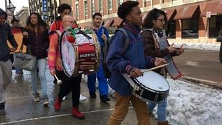 Students Bang Drums During Rhode Island Walkout - Video
