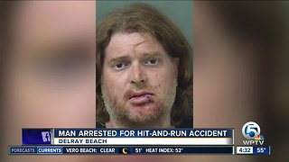 Driver arrested after Delray Beach police car, pedestrian hit