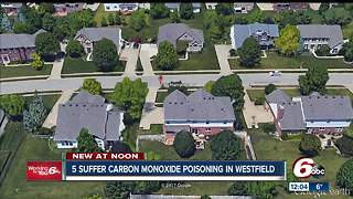 5 people suffer carbon monoxide poisoning in Westfield house - Video