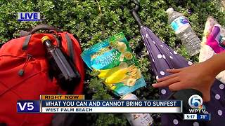 What you can and cannot bring into SunFest - Video