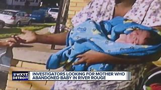 Investigators looking for mother who abandoned baby in River Rouge - Video
