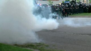 Officers use gas to disperse Milwaukee protesters after gathering declared 'unlawful' by police