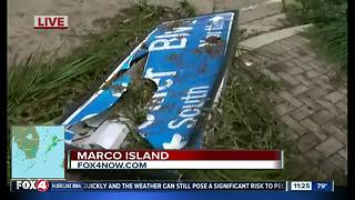 A look at some storm damage on Marco Island after Hurricane Irma - Video