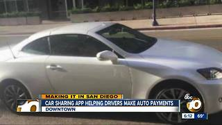 Car-sharing app helping drivers make auto payments - Video