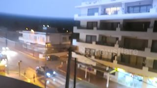 Severe thunderstorm batters Ibiza - Video