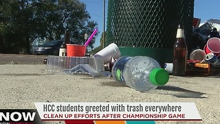 HCC students greeted with trash everywhere