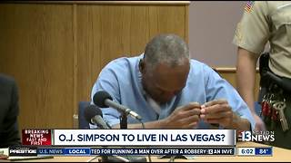 Will O.J. Simpson live in Las Vegas?