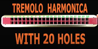 How to Play a Tremolo Harmonica with 20 Holes