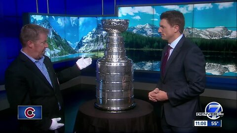 Stanley Cup visits Denver ahead of Avalanche's second-round playoff series