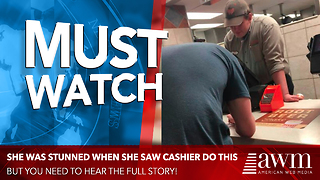 Couple Notices Customer Slipping A Note To The Cashier, Quickly Realizes Why - Video