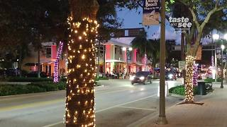 Downtown Delray turns pink! - Video