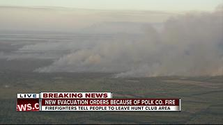 New evacuation orders because of Polk Co. brush fire