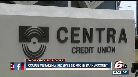 Columbus couple returns mysterious $10,000 that showed up in their bank account by accident