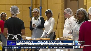 Thousands of people in need served meals at Bea Gaddy Thanksgiving Dinner