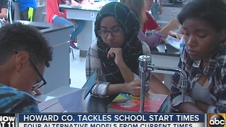 Howard Co. school officials consider changing start times - Video