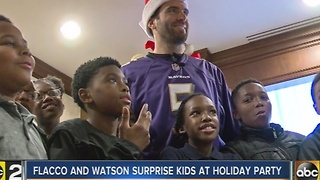 Ravens surprise 5th graders from Westport Academy with gifts - Video