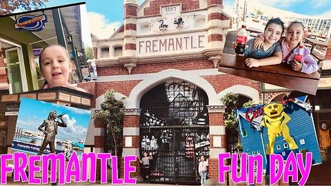 FREMANTLE WESTERN AUSTRALIA - A fun day with Michael and Sienna