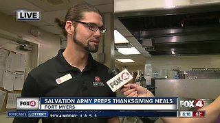Salvation Army preps hundreds of Thanksgiving meals
