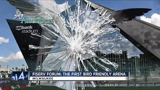 Fiserv Forum is the first bird-friendly arena - Video