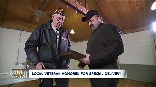 Local veteran honored for special delivery