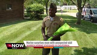 Marine surprises mom with unexpected trip home - Video