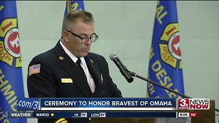 Ceremony honors Omaha firefighters - Video