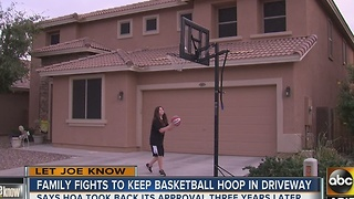 Family fights to keep basketball hoop in driveway - Video