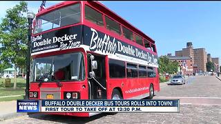 Buffalo Double Decker Bus Tours rolls into the Queen City - Video