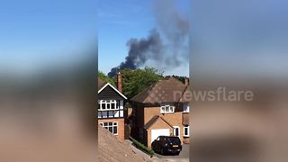 Fire sends giant plume of smoke into sky over Sutton Coldfield