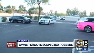 Store owner shot at alleged robber in north Phoenix - Video