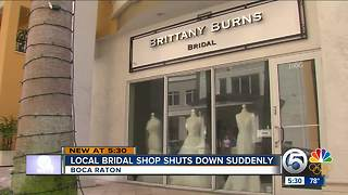 Boca Raton bridal shop appears to suddenly close doors - Video