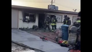 2 children rescued from fire