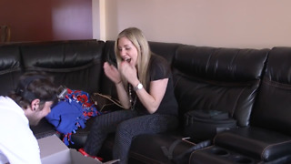 Man Surprises Girlfriend With Pug Puppy For Her Birthday - Video