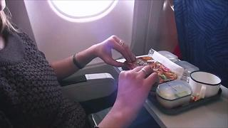 Why You Might Want to Think Twice Before Eating Breakfast on a Plane - Video